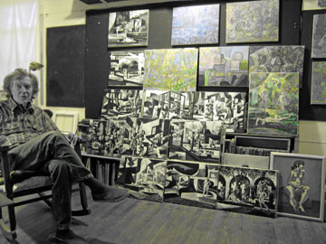 Philip Trussell in his Studio, March 2010