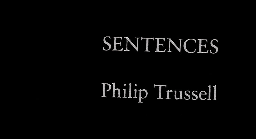 Sentences: A Book of Poetry